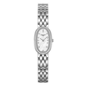 Longines Symphonette Ladies' Stone Set Bracelet Watch - Product number 3447871