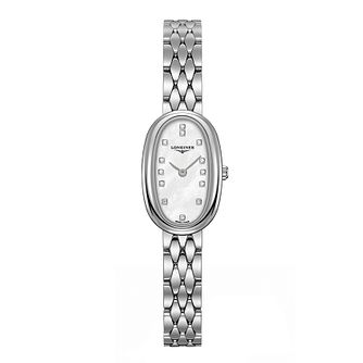 Longines Symphonette Ladies' Stone Set Bracelet Watch - Product number 3447928