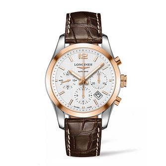 Longines Conquest Men's Two Colour Chronograph Strap Watch - Product number 3447995