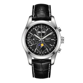 Longines Conquest Men's Black Chronograph Strap Watch - Product number 3448029