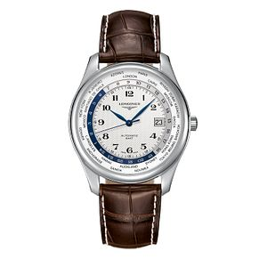 Longines Master Collection Men's Brown Leather Strap Watch - Product number 3448053