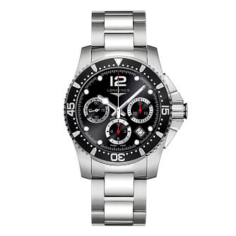 Longines HydroConquest Men's Black Chronograph Watch - Product number 3448193