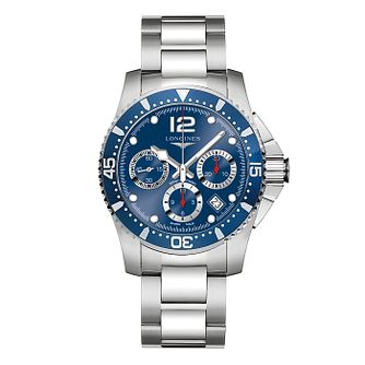 Longines HydroConquest Men's Blue Chronograph Bracelet Watch - Product number 3448207