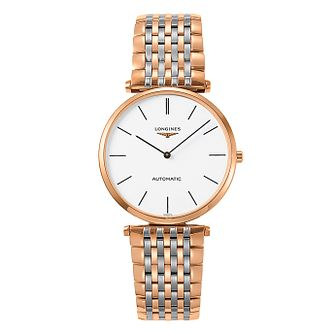 Longines Ladies Two Colour Round Bracelet Watch - Product number 3448363
