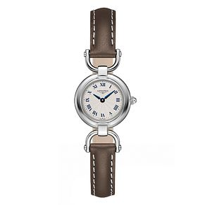 Longines Equestrian Ladies' Brown Leather Strap Watch - Product number 3448568