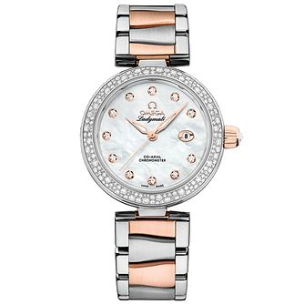 Omega Ladymatic ladies' two colour bracelet watch - Product number 3450996