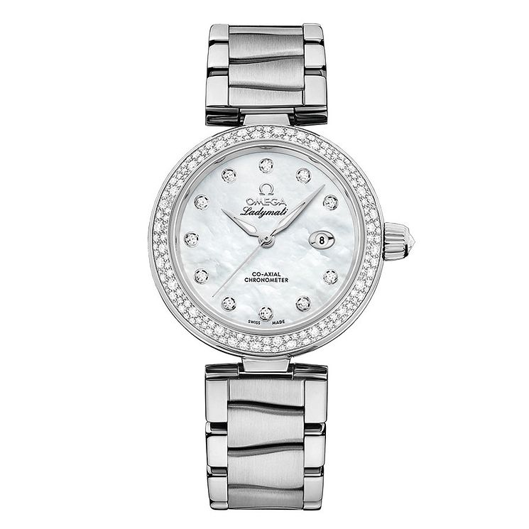 Omega Ladymatic stainless steel stone set bracelet watch - Product number 3451046