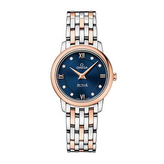 Omega De Ville Prestige ladies' two colour bracelet watch - Product number 3451224