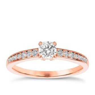 The Diamond Story 18ct rose gold 1/3ct diamond ring - Product number 3453804