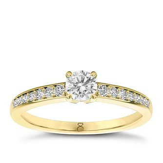 The Diamond Story 18ct yellow gold 0.33pt diamond solitaire - Product number 3457508