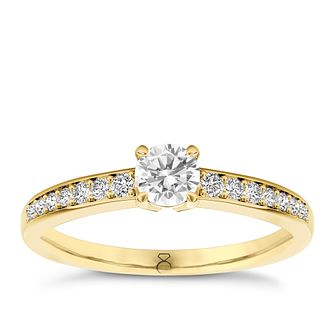 The Diamond Story 18ct yellow gold 0.50ct carat diamond ring - Product number 3458202