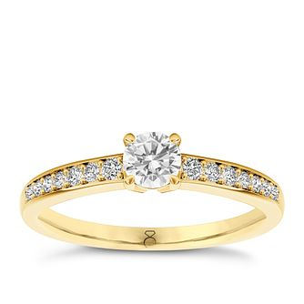 The Diamond Story 18ct yellow gold 0.66ct diamond ring - Product number 3458369