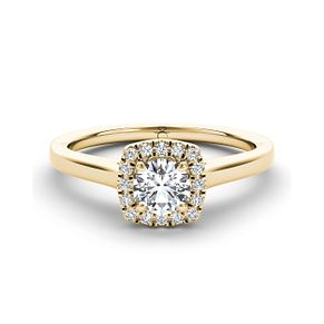 The Diamond Story 18ct yellow gold 1/3ct diamond halo ring - Product number 3458598
