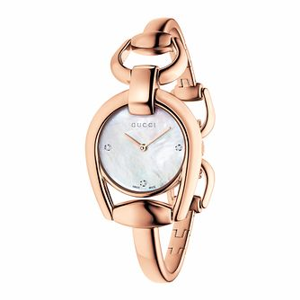 Gucci Horsebit ladies' rose gold PVD bracelet watch - Product number 3460851