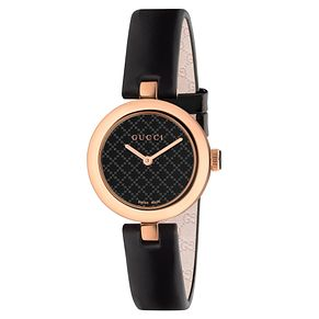 Gucci Diamantissma ladies' Black Leather Strap Watch - Product number 3460886