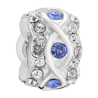 Chamilia luxe sapphire crystal sterling silver charm - Product number 3465381