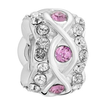 Chamilia luxe purple coloured crystal sterling silver charm - Product number 3465942