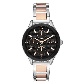DKNY Woodhaven Ladies' Two Colour Bracelet Watch - Product number 3467856