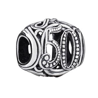 Chamilia Sterling Silver Filigree 50 Milestone Charm - Product number 3473562