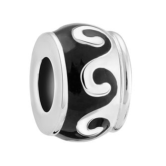 Chamilia Silver & Enamel Ying & Yang Spacer Bead - Product number 3473651