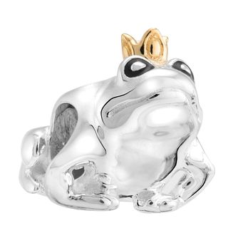 Chamilia Silver & Yellow Gold Plate Kissing Frogs Bead - Product number 3474259