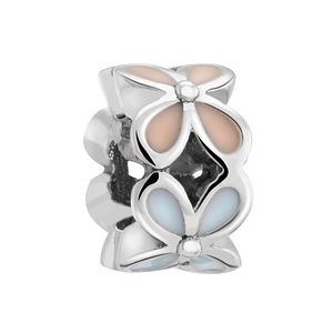 Chamilia Silver & Enamel Petite Rotating Flower Bead - Product number 3475190