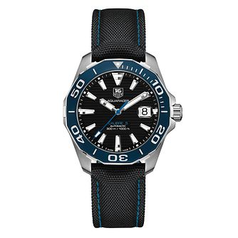 TAG Heuer Aquaracer men's stainless steel fabric strap watch - Product number 3477134