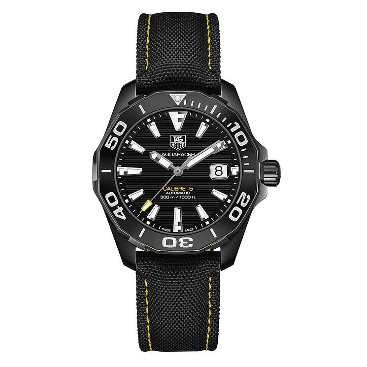 TAG Heuer Aquaracer Ion-plated Black Round Strap Watch - Product number 3479048