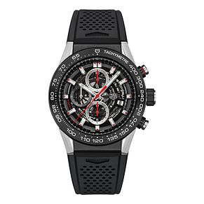 TAG Heuer Carrera Men's Black Rubber Strap Watch - Product number 3479161