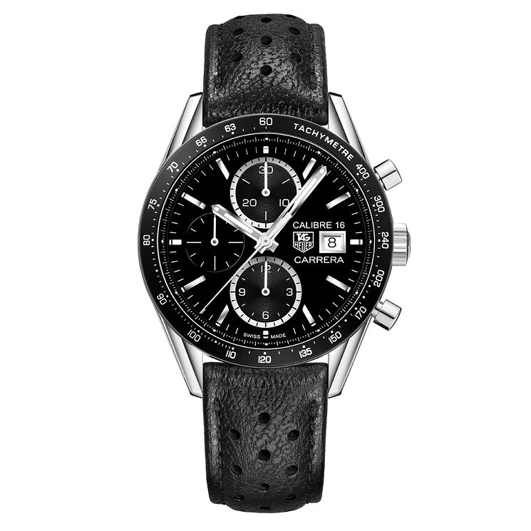 TAG Heuer Carrera Men's Ion-plated Chrome Strap Watch - Product number 3479315
