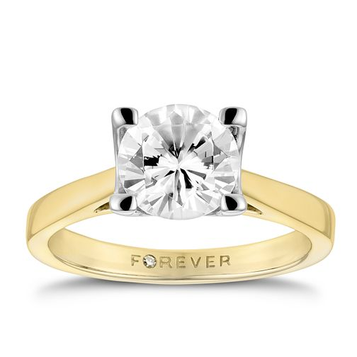 18ct Yellow Gold 1 1/2 Carat Forever Diamond Ring - Product number 3479846