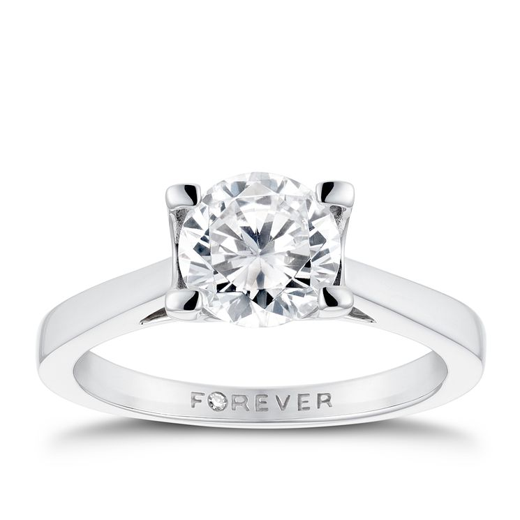 Platinum 1 1/4 Carat Forever Diamond Ring - Product number 3480046