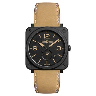 Bell & Ross men's IP square black dial strap watch - Product number 3480992