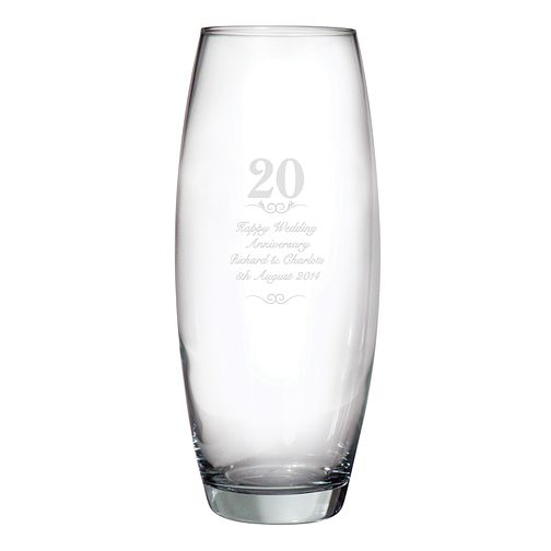 Engraved 20 Years Bullet Vase - Product number 3486788