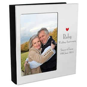 Decorative Ruby Anniversary 6x4 Photo Album - Product number 3487474