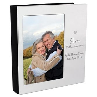 Decorative Silver Anniversary 6x4 Photo Album - Product number 3487482