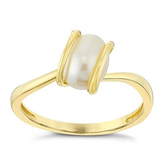 9ct Yellow Gold Freshwater Pearl Wrap Ring - Product number 3487490