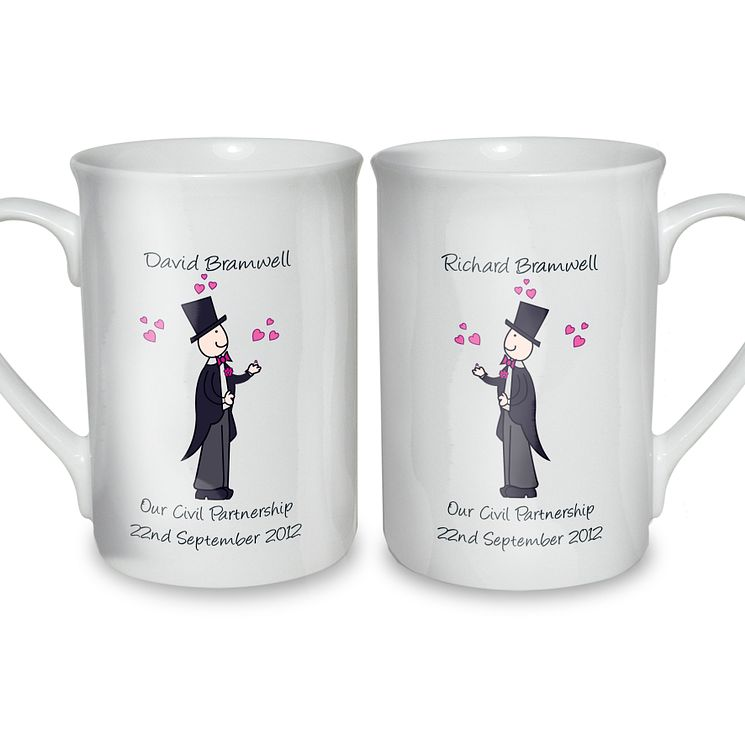 Personalised Male Wedding Mug Set - Product number 3490211
