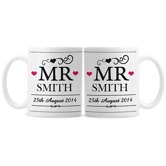 Personalised Mr & Mr Mug Set - Product number 3499138