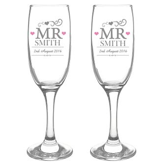 Personalised Mr & Mr Pair of Flutes - Product number 3499189