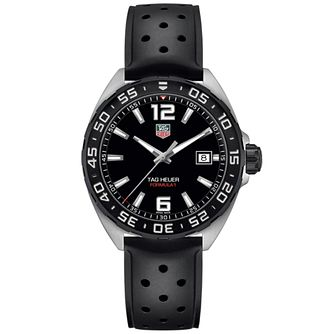 TAG Heuer F1 men's stainless steel black strap watch - Product number 3507904