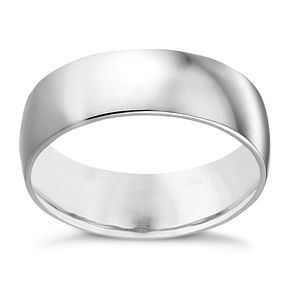 9ct White Gold 7mm Extra Heavy Court Ring - Product number 3510026