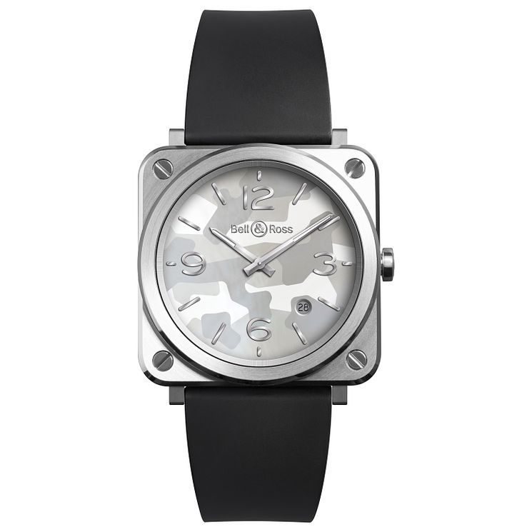 Bell & Ross ladies' square grey rubber strap watch - Product number 3511685