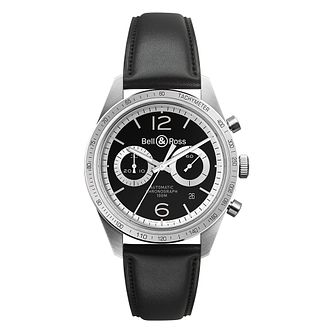 Bell & Ross Vintage men's stainless steel black strap watch - Product number 3512428