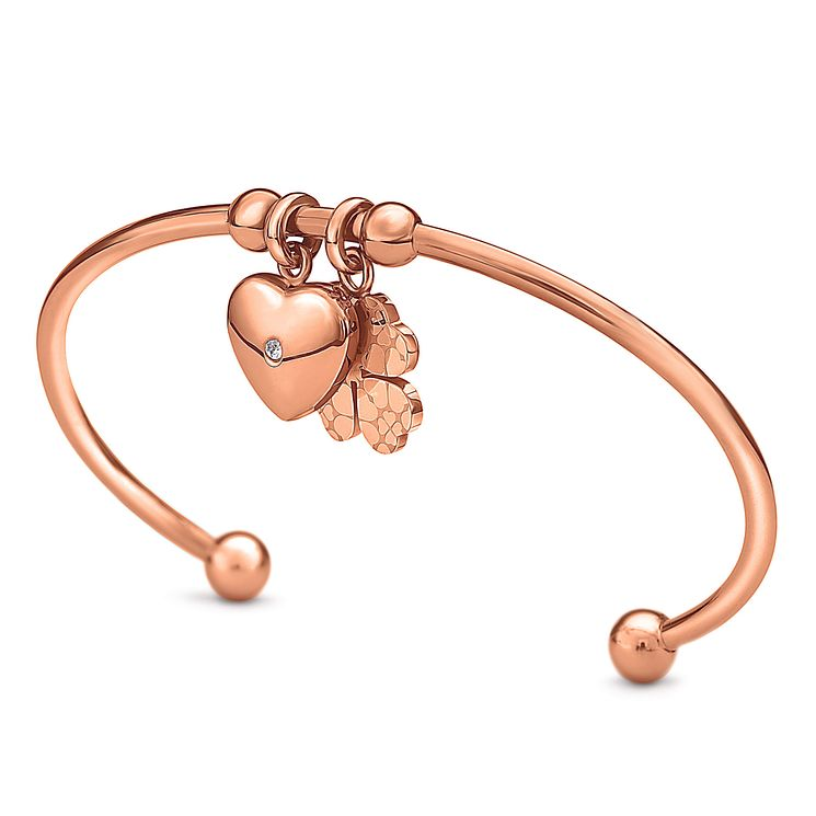 Folli Follie Sweetheart II rose gold plated bangle - Product number 3512843