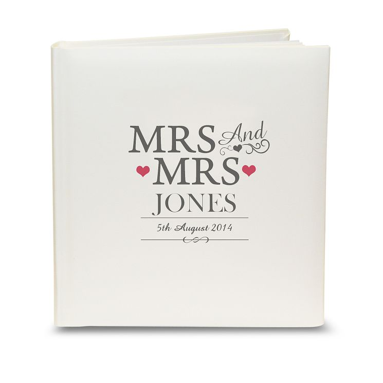 Personalised Mrs & Mrs Traditional Album - Product number 3513157