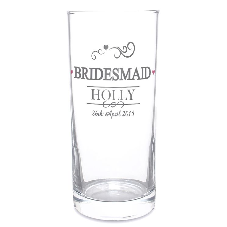 Personalised Mr & Mrs Bridesmaid Hi Ball Glass - Product number 3513254