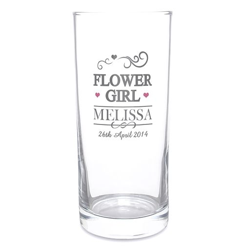 Personalised Mr & Mrs Flower Girl Hi Ball Glass - Product number 3513335
