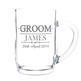 Personalised Mr & Mrs Groom Tankard - Product number 3513947