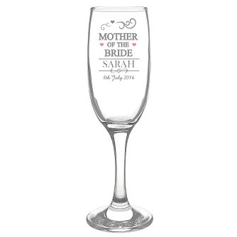 Mr & Mrs Mother of the Bride Glass Flute - Product number 3514536